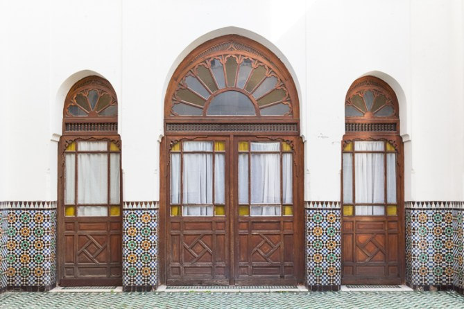 Doorway at Paris Grand Mosque