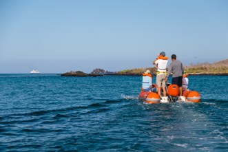 Tour guests at Floreana Island in Galapagos National Park