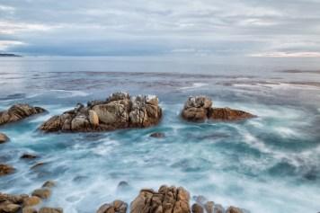 Pacific ocean swirls
