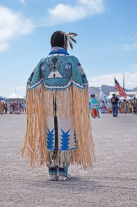 PowWow beadwork, mocasins and fringe