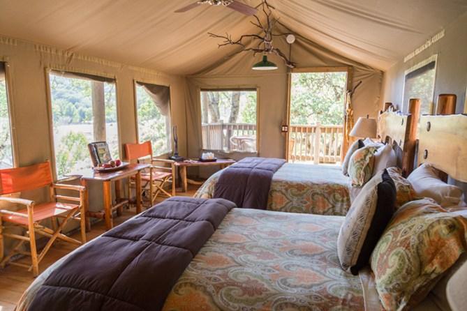 Glamping, African safari tent