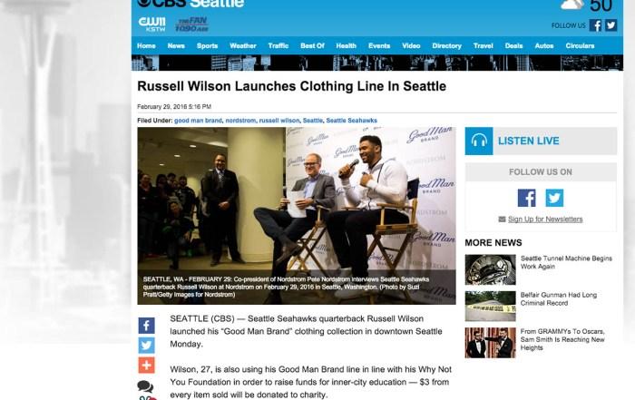Russell Wilson Good Man Brand