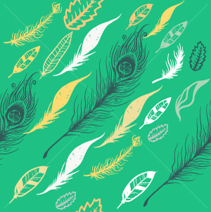 17.Feathers Seamless Pattern