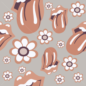 18.Mouths Seamless Pattern