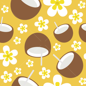 24.Coconut Seamless Pattern