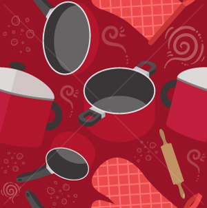 34.Kitchen Seamless Pattern