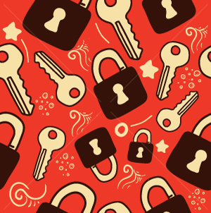 47.Lock Seamless Pattern