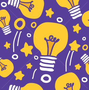 54.Lightbulbs Seamless Pattern