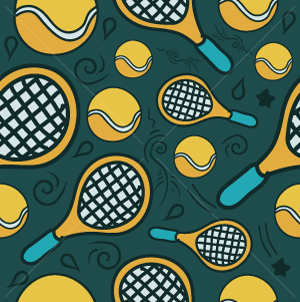 57.Tennis Seamless Pattern