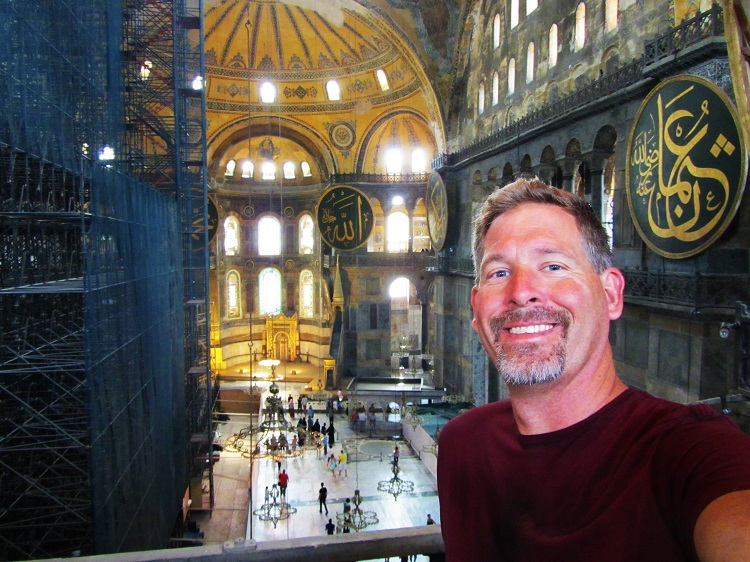Blog 2 - Turkey - Istanbul - Hagia Sophia - Me Upstairs