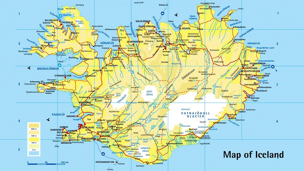 Iceland - 1 A Map