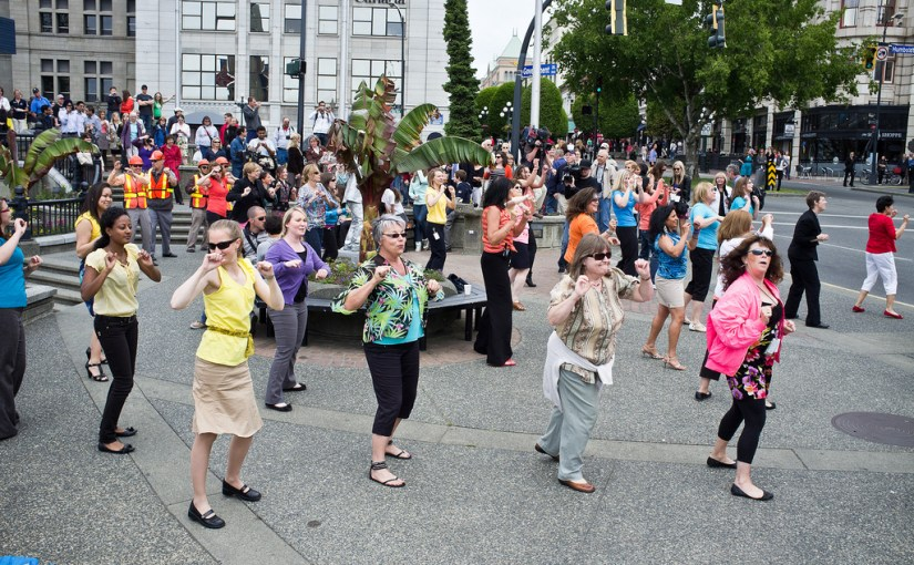 Flash mobs and people power!