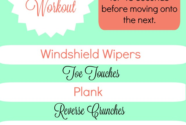 Killer Abs Circuit Workout.  Exercises to help strengthen your core.