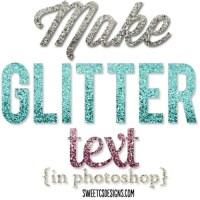 Make Glitter Text in Photoshop
