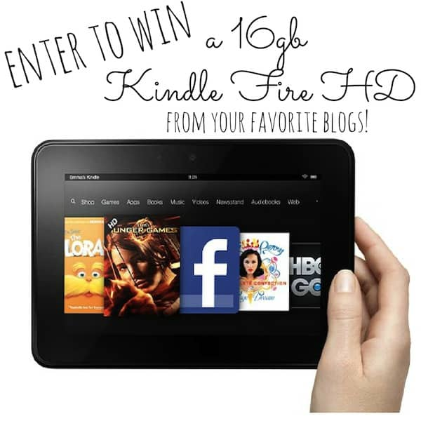 Win a 16gb Kindle Fire HD