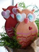 Sweet Dani B Custom Cookie Templates - Lovebird Owl