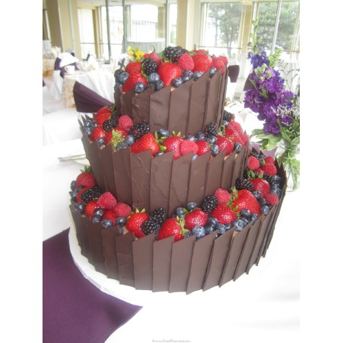 Medium Crop Of Chocolate Wedding Cake