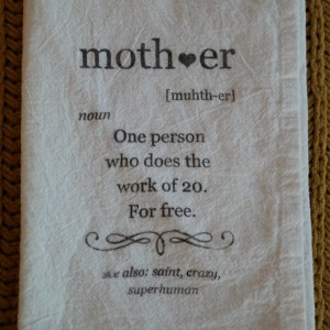 mother definition tea towel