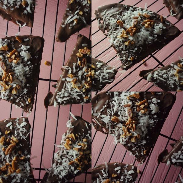 pecan coconut chocolate quesadilla