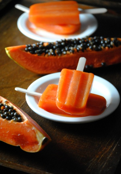 Papaya Pops-Paletas de Papaya