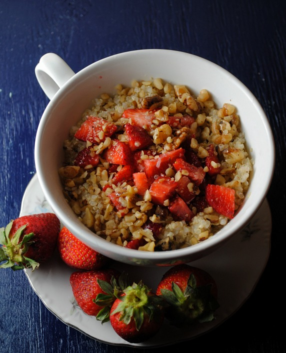 Quinoa with Strawberries and Buttermilk recipe from sweetlifebake.com