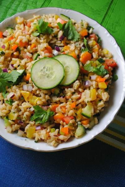 Brown Rice Salad recipe from sweetlifebake.com