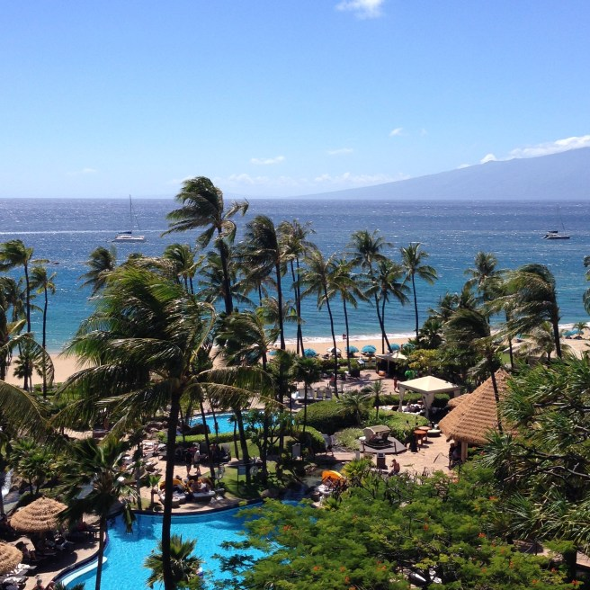 Ka'anapali Beach (Maui) with the island of Lanai in the background