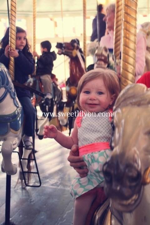 smiles on the carousel