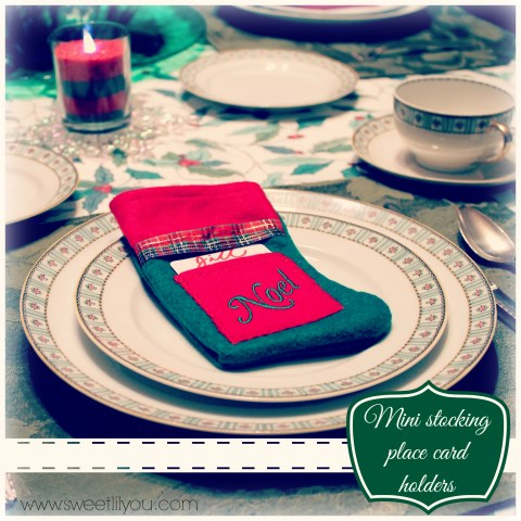 Mini stocking plae card holders Holiday party Price chopper sweetlilyou #Shop #HolidayAdvantEdge