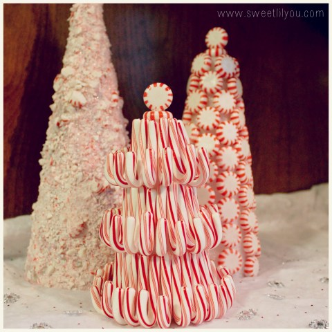 Peppermint Candy and Candy can christmas trees diy craft Price Chopper Sweetlilyou Holiday decorating #Shop #HolidayAdvantEdge