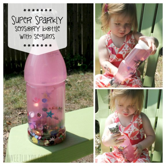 Sparkle Sensory Bottles for Toddlers via sweetlilyou.com