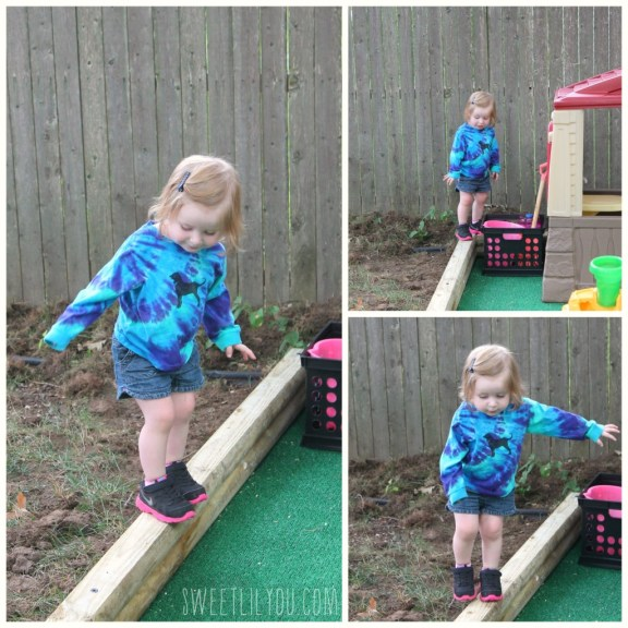 A built in balance beam