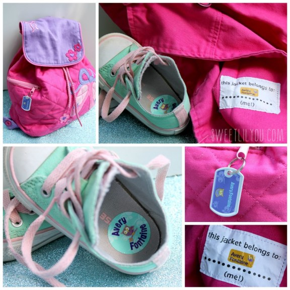 Mabel's Labels for backpacks, shoes and clothes. Back to school essentials