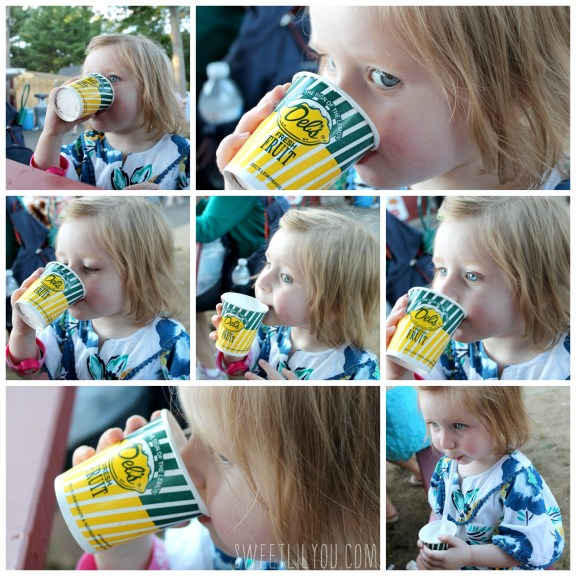 drinking del's lemonade at the washington county fair RI