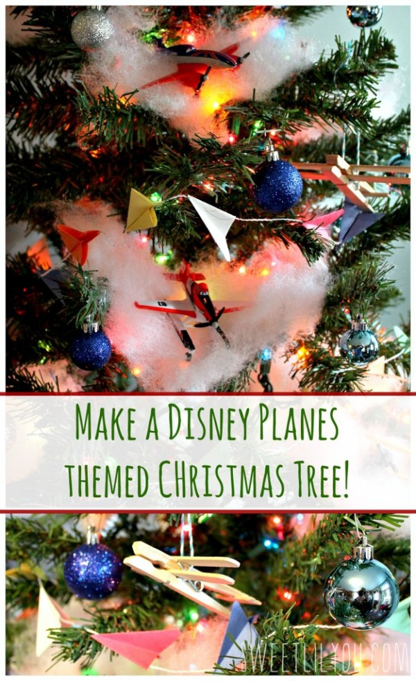 DIY DIsney Planes Themed Christmas Tree! #PlanesToTheRescue #ad