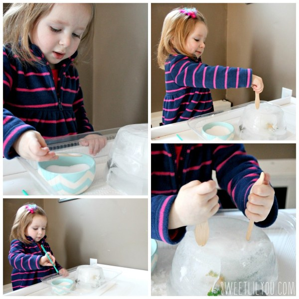 Toddler ice science