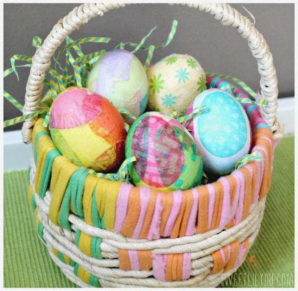 Paper Napkin Easter eggs
