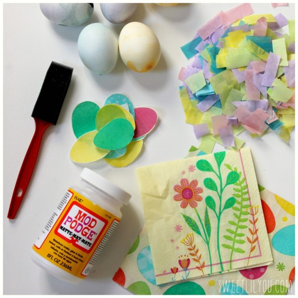 Supplies for Tissue and Napkin Eggs