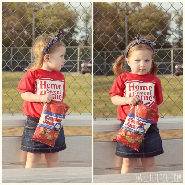 Cracker Jacks and baseball, Avery making a grumpy face