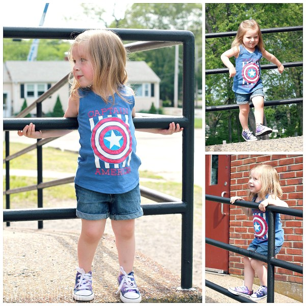 Girls Marvel Captain America shirt from Target