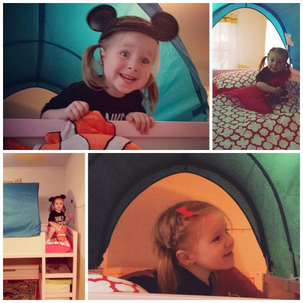 Avery was so excited to try out her big girl bed!