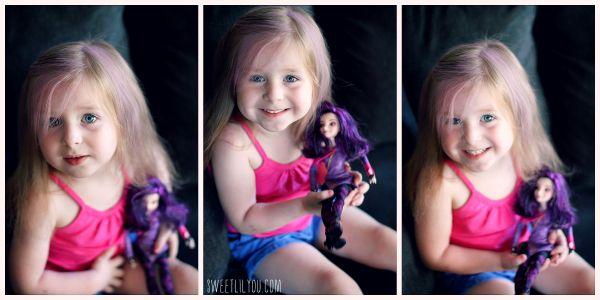 Purple Hair - Mal Descendants Style