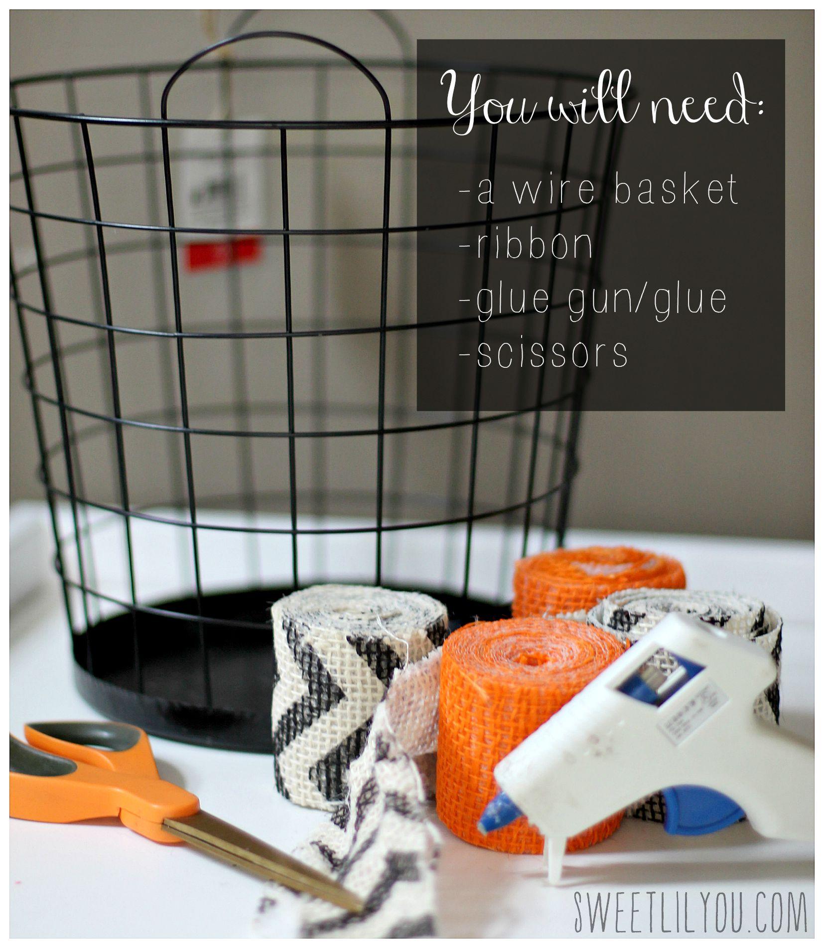Simple DIY Halloween Treat Basket - sweet lil you