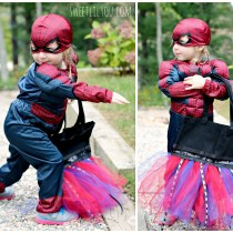 Little Girl Spider Man costume Halloween