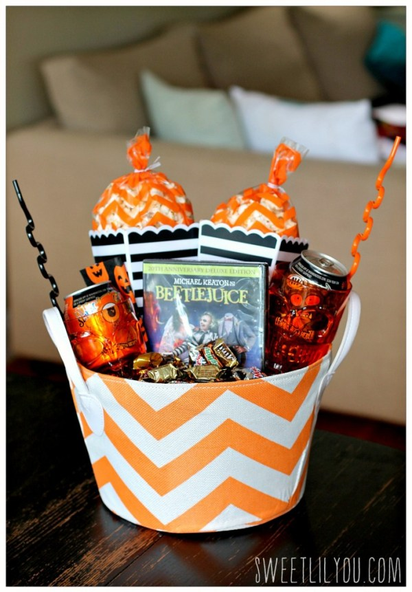 Make a Movie Night Boo Basket for Friends and Family