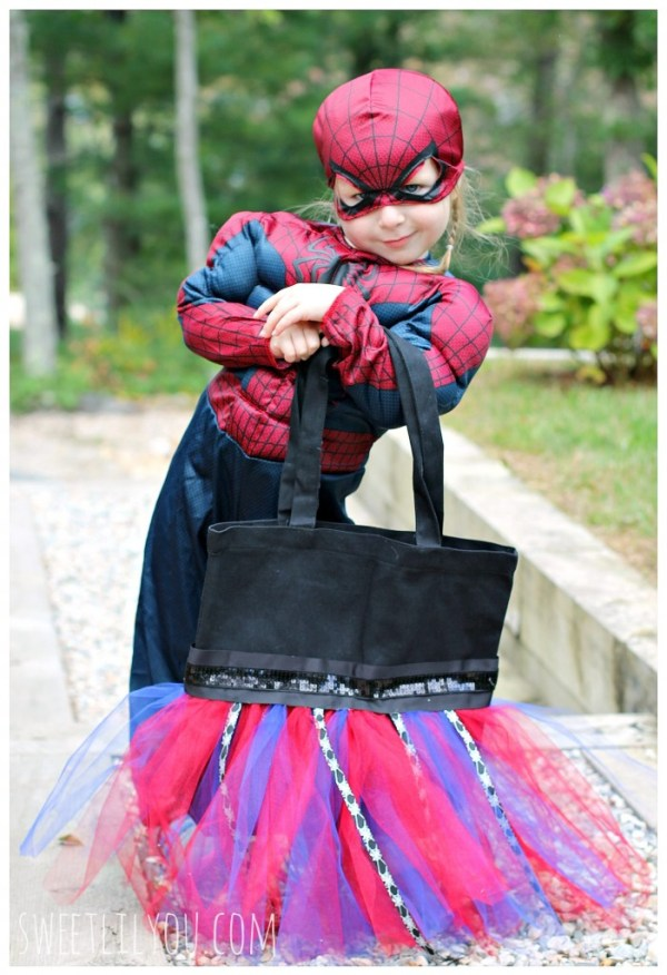 Spider Man Tutu Treat Bag for Halloween