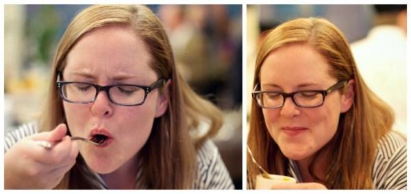 Flattering photos of me eating taken by Woodstock Inns chef