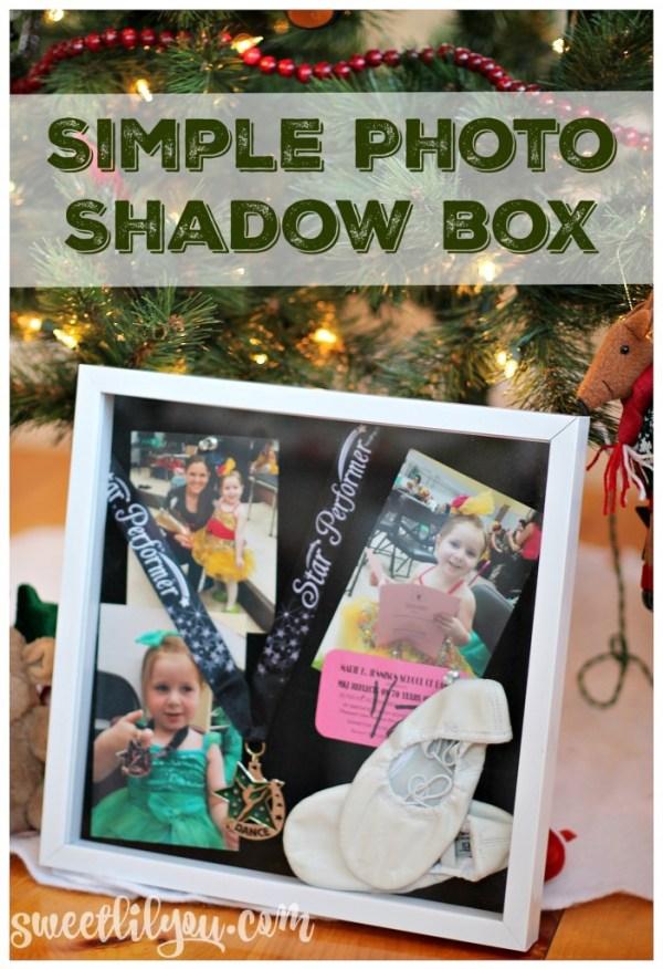 Simple Photo Shadow Box - #SaveYourMemories