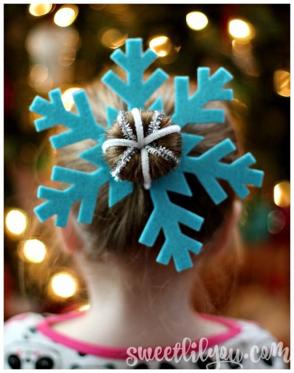 Snowflake Hair for Christmas