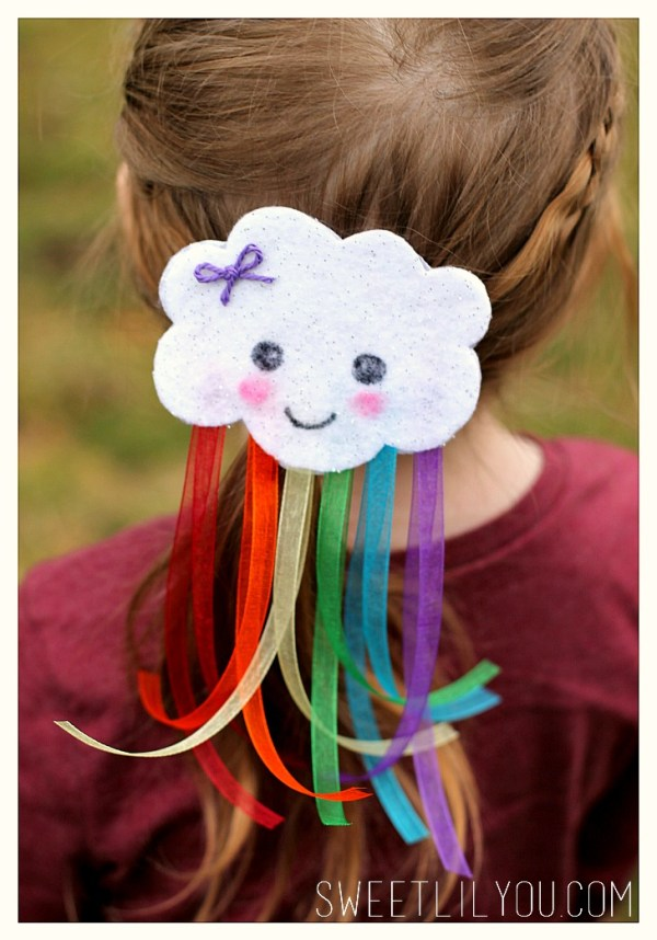 Easy DIY Rainbow Barrette